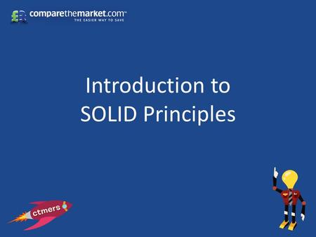 Introduction to SOLID Principles. Background Dependency Inversion Principle Single Responsibility Principle Open/Closed Principle Liskov Substitution.