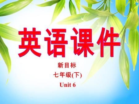 新目标 七年级 ( 下 ) Unit 6 Unit 6 It's raining! Section A 2 (3a-4)