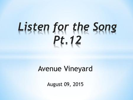 Avenue Vineyard August 09, 2015