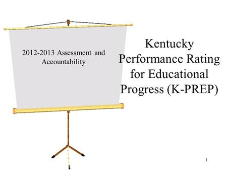 Kentucky Performance Rating for Educational Progress (K-PREP) 2012-2013 Assessment and Accountability 1.