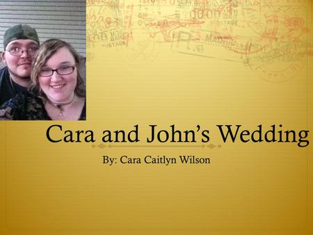 Cara and John's Wedding By: Cara Caitlyn Wilson. The Invitations Green With An Ivy Accent $60.