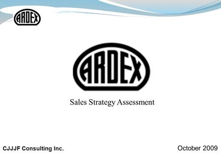 CJJJF Consulting Inc. October 2009 Sales Strategy Assessment.
