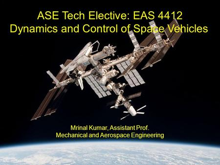 Dynamics and Control of Space Vehicles