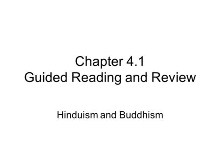 Chapter 4.1 Guided Reading and Review