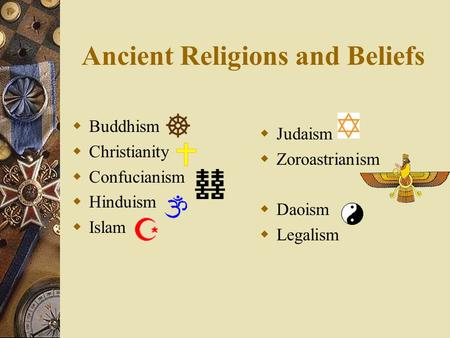 Just the facts on the world's religions.