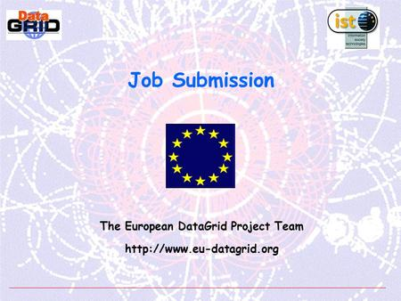 Job Submission The European DataGrid Project Team