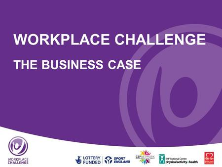 WORKPLACE CHALLENGE THE BUSINESS CASE. Introduction 1.The situation today 2.Introduction to Workplace Challenge 3.What does it involve? 4.Benefits to.