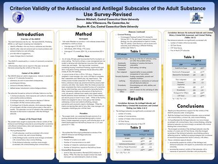 Introduction Overview of the ASUS-R  The Adult Substance Use Survey - Revised (ASUS-R; Wanberg, 2004) is a self-report screening tool intended to:  identify.