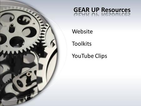 Website Toolkits YouTube Clips.  New look and location of all the resources we are reviewing.