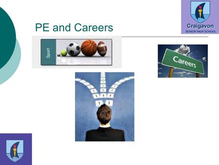 PE and Careers. Possible Careers  Gym Ownership  Personal Training  Physiotherapy  PE Teaching  Council Sport Positions  Dancing  Coaching 