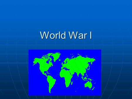 World War I 1860-1920. Causes of WW I - nationalism In Europe, countries competed for military power and ownership of European lands. In Europe, countries.
