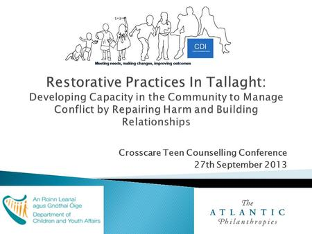 Crosscare Teen Counselling Conference 27th September 2013.