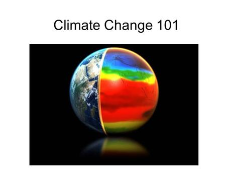 Climate Change 101. What Is Climate? What Is the Greenhouse Effect?