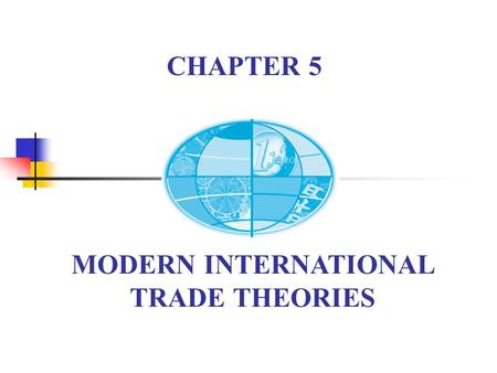 MODERN INTERNATIONAL TRADE THEORIES CHAPTER 5. Chapter 5 Modern IT Theories New Development of IT (after War II) The relationship of modern IT theories.