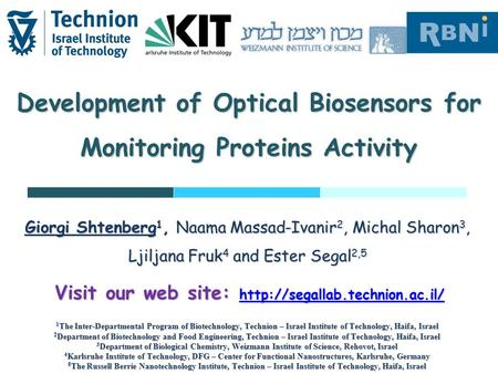 Development of Optical Biosensors for Monitoring Proteins Activity