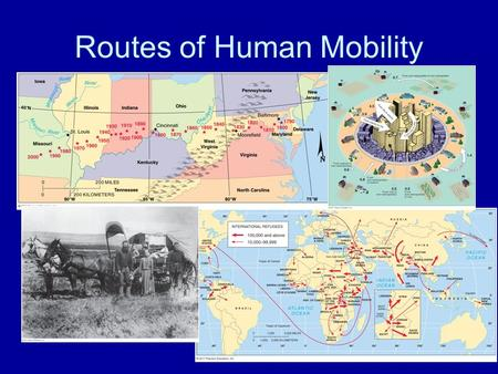 Routes of Human Mobility. Global Immigration Patterns NET OUT-MIGRATION Asia Latin America Africa NET IN-MIGRATION North America Europe Oceania The global.
