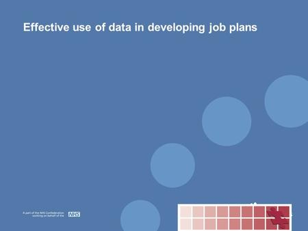 Effective use of data in developing job plans. The key components Demand Potential capacity Delivery of activity Actual activity.