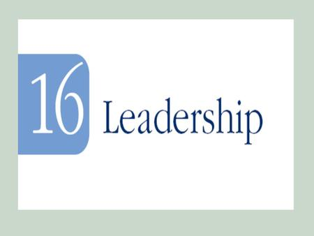 Objectives 1. A working definition of leadership