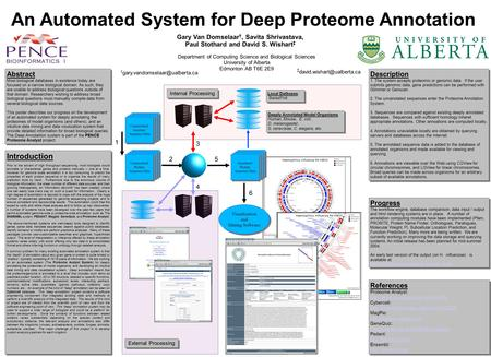An Automated System for Deep Proteome Annotation Gary Van Domselaar †, Savita Shrivastava, Paul Stothard and David S. Wishart ‡ Unannotated Protein Sequence.