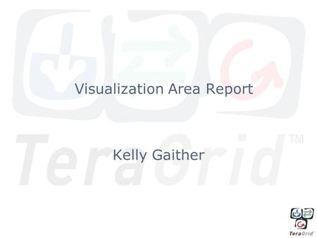 Kelly Gaither Visualization Area Report. Efforts in 2008 Focused on providing production visualization capabilities (software and hardware) Focused on.