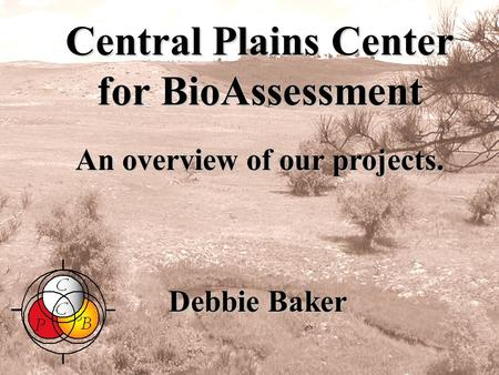 Central Plains Center for BioAssessment Debbie Baker An overview of our projects. Sept. 2004.