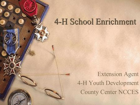 4-H School Enrichment Extension Agent 4-H Youth Development County Center NCCES.