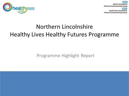 Northern Lincolnshire Healthy Lives Healthy Futures Programme Programme Highlight Report December.