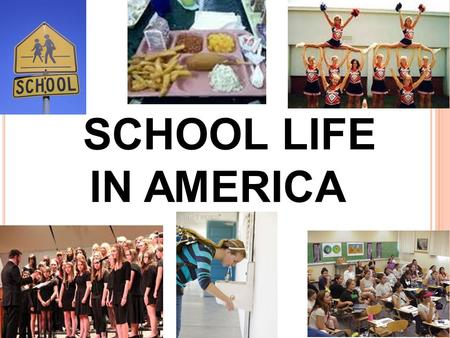 "SCHOOL LIFE IN AMERICA. to ""hit the books"" Phrase of the week: = to study hard."