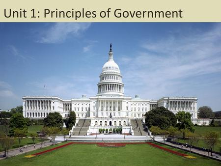 Unit 1: Principles of Government. What do we already know?