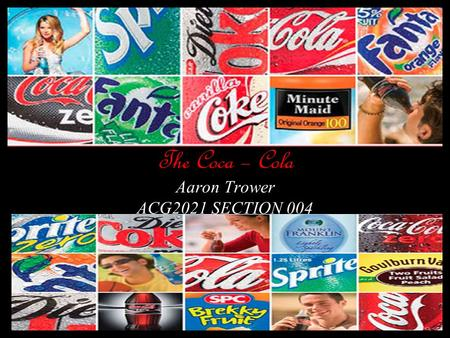 The Coca – Cola Aaron Trower ACG2021 SECTION 004.