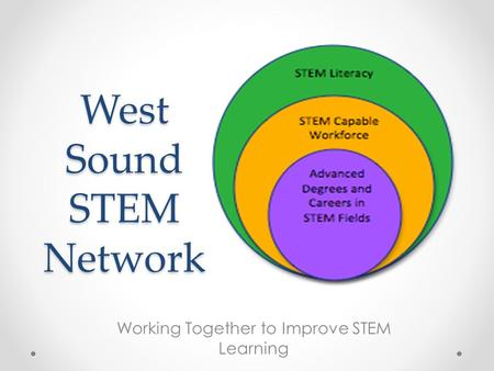 West Sound STEM Network Working Together to Improve STEM Learning.