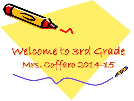 Welcome to 3rd Grade Mrs. Coffaro 2014-15. Discipline Plan Everyday, I will do my PART and act TeRRiFiCC so we can all be successful. P – Positive attitudes.