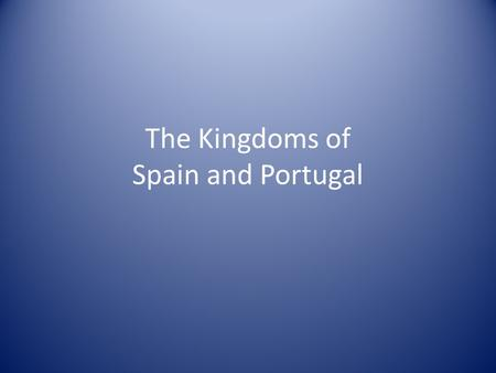 The Kingdoms of Spain and Portugal. Map of Europe in the Middle Ages.