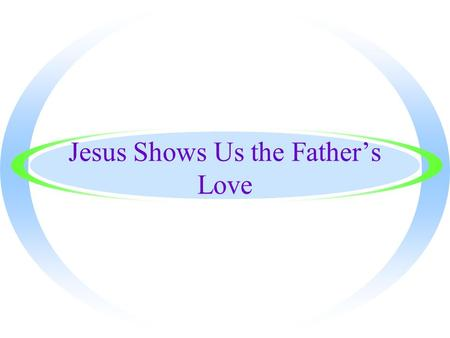 Jesus Shows Us the Father's Love. Words to Know ·Liturgy - the Church's public worship.