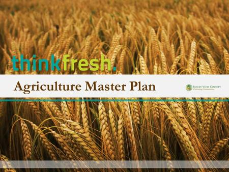 Agriculture Master Plan. 12:45 – 1:15 Overview of Community Workshop + Survey 1:15 - 2:30 Plan Recommendation review 2:45 – 3:45 Land Use Bylaw review.