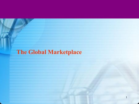 1 The Global Marketplace. 15-2 2 ROAD MAP: Previewing the Concepts Discuss how the international trade system, economic, political-legal, and cultural.