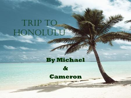 Trip to Honolulu By Michael & Cameron. our budget Airfare400 per $800 gasNot driving Entertainment total $174.99 Food total$280.99 Rent house12250 per.