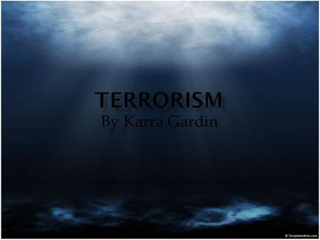By Karra Gardin. The true affect of the terrorist attacks on September 11 was not the physical impact it had on the country, rather the psychological.