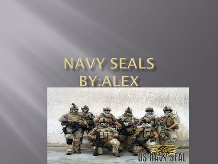  The navy seals are an elite special forces group. They are very secretive. They are the men who killed Osama benladin. The seals in navy seals means.