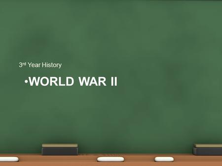 WORLD WAR II 3 rd Year History. Invasion of Poland SS dressed up 29th of August 1st September GB and France declare war. Blitzkrieg Luftwaffe, then Panzers.