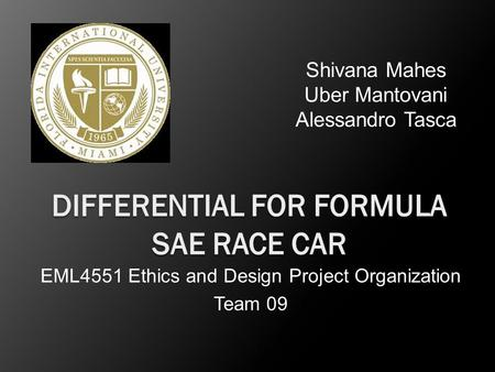 Differential for Formula SAE Race Car