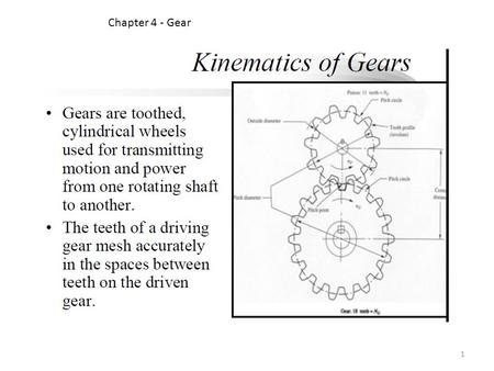 Chapter 4 - Gear 1. Two meshing gears transmitting rotational motion. Note that the smaller gear is rotating faster. Although the larger gear is rotating.