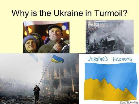 Why is the Ukraine in Turmoil?. The People Two-thirds of Ukraine's citizens are ethnic Ukrainians whose first language is Ukrainian. One-sixth is ethnic.