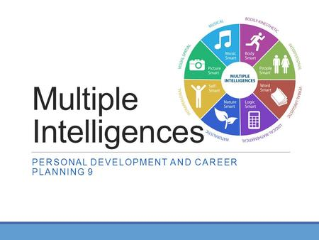 Multiple Intelligences PERSONAL DEVELOPMENT AND CAREER PLANNING 9.