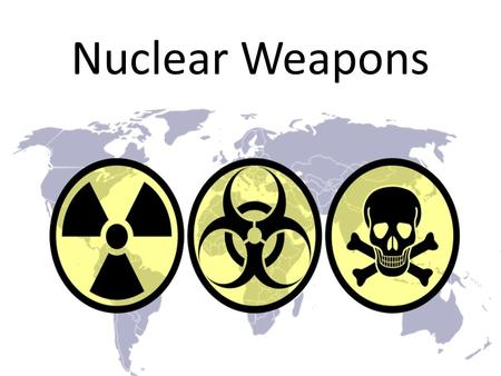 Nuclear Weapons. Atomic Bomb (fission) < 1 – 500,000 tons of TNT.
