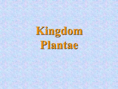 Kingdom Plantae. They are complex, multicellular organisms The cells have a cell wall, a nucleus and other organelles They have chlorophyll and can make.