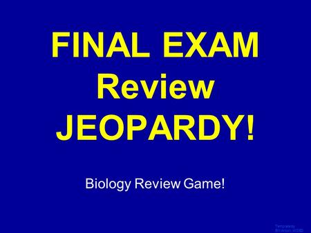 Life Science Jeopardy! Template By Bill Arcuri, Wcsd. - Ppt Video