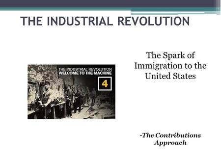 an introduction to the industrial revolution in united states New technology leads to bigger cities in the 1800s, the united states was still a very young nation, trying to solidify its identity the industrial revolution began in great britain, a fast development of society following the introduction of machines.