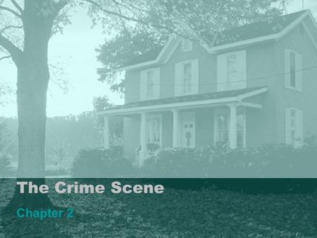 The Crime Scene Chapter 2. Physical Evidence Any and all objects that can establish that a crime has been committed or can provide a link between a crime.