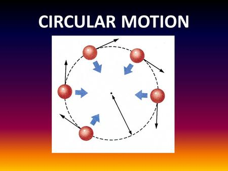 CIRCULAR MOTION. Rotation along a circle, circular path, or circular orbit Can be uniform or non-uniform.